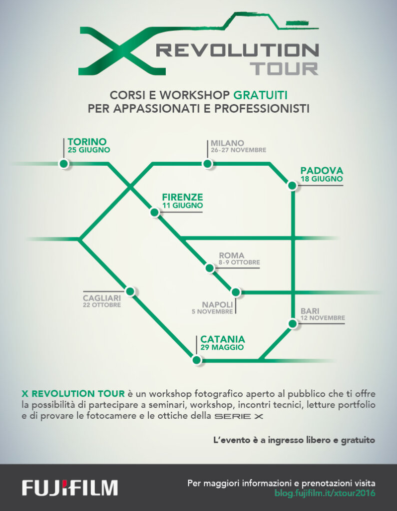 LOCANDINA  X REVOLUTION TOUR