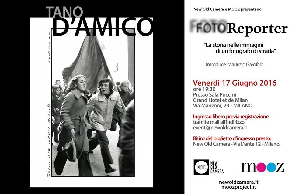 Conferenza FOTOReporter NOC - Tano D'Amico - 17 Giugno
