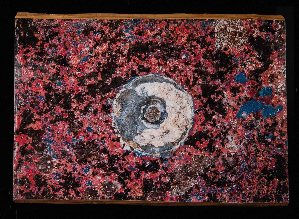 Isola #1, Fino alla fine del mare, stampa su legno, 70 x 50, 2015