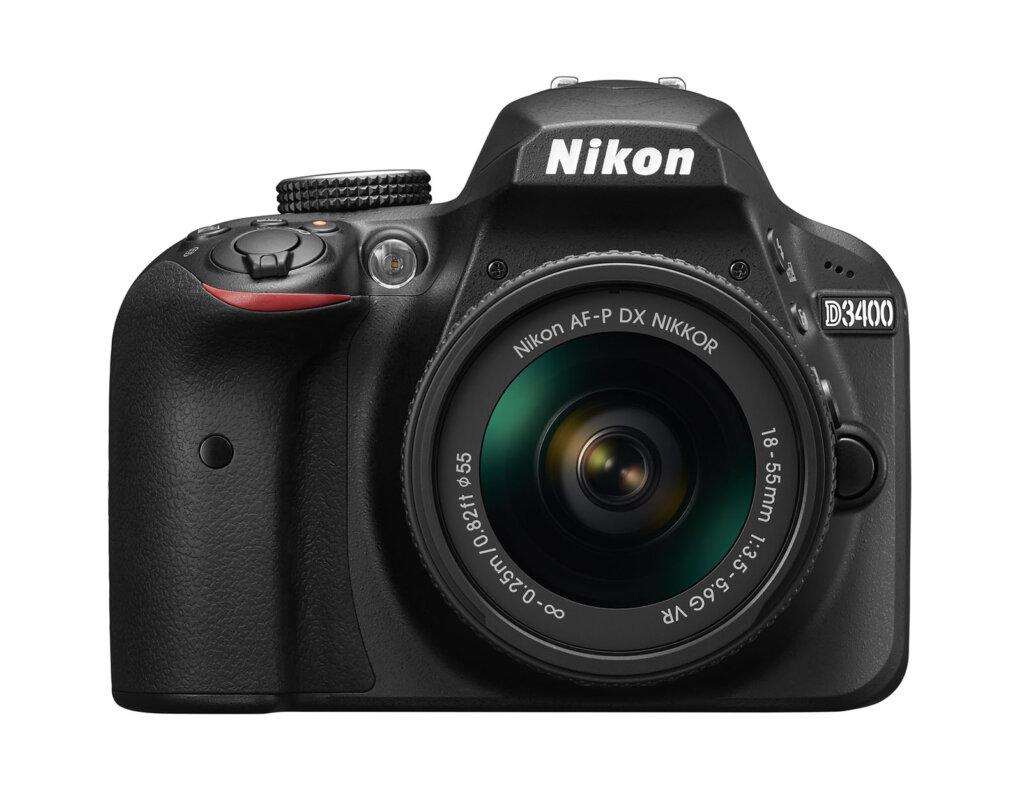 Nikon D3400_BK_18_55_VR_front