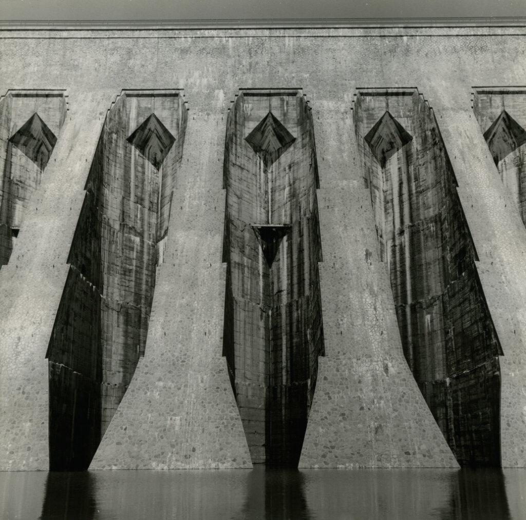 Particolare della diga Aem di San Giacomo Valtellina, © Adolfo Ferrari, 1970