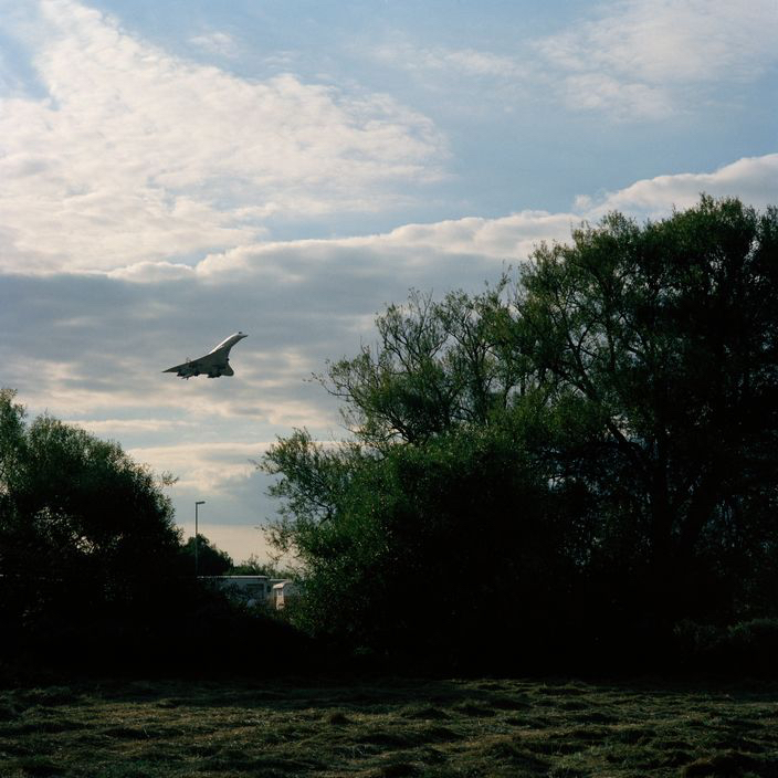 G.B. ENGLAND. London. Heathrow Airport, The last days of Concorde.  Landing prior to retiring from service in October 2003