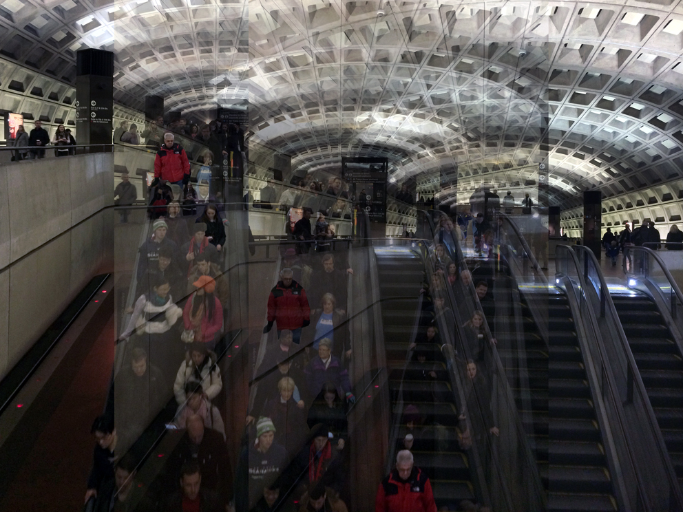 Patrizia Bonanzinga, The Big Data World (#04 - Subway, Washington), 2015