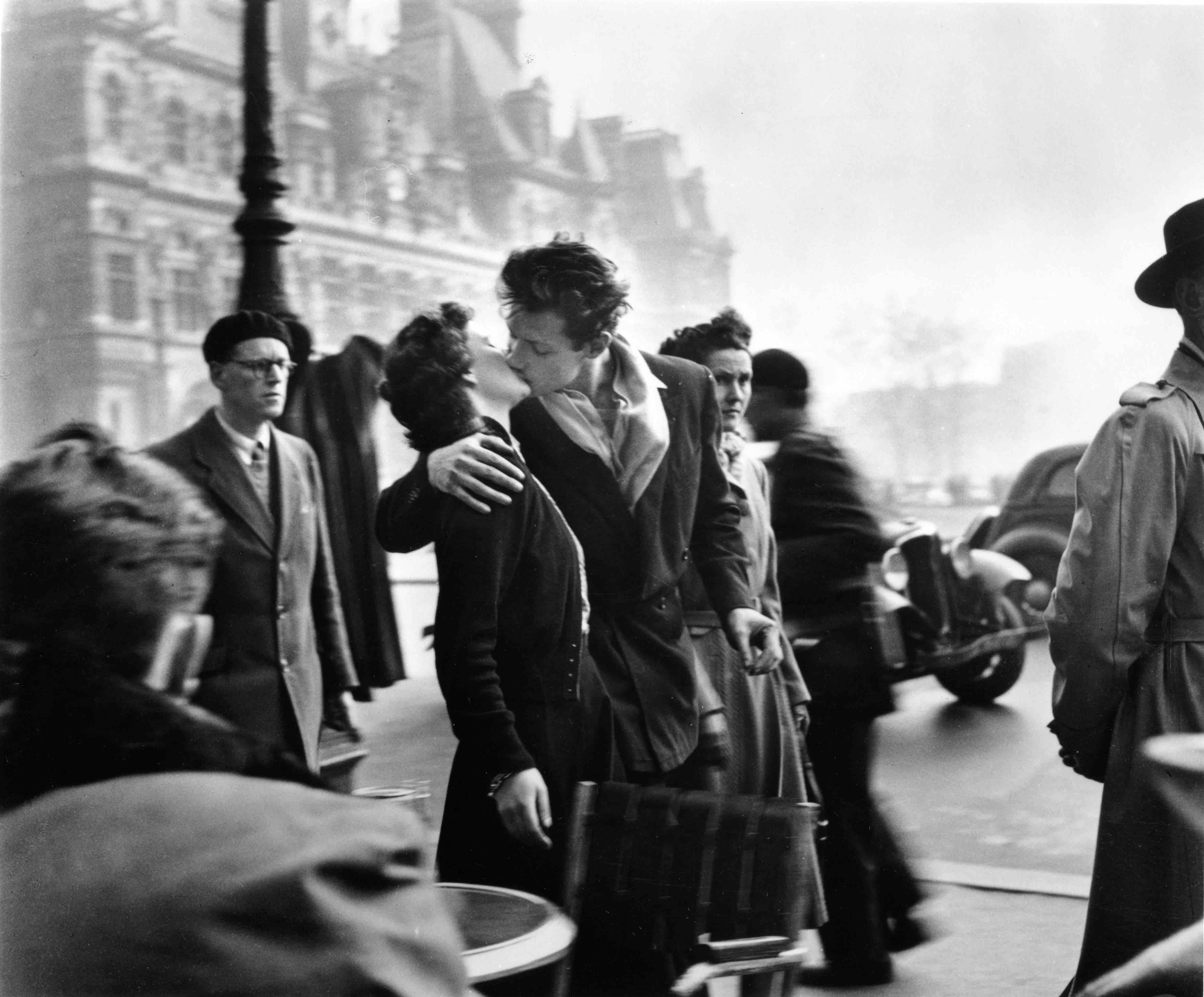 Le baiser de l'hôtel de ville, Paris 1950