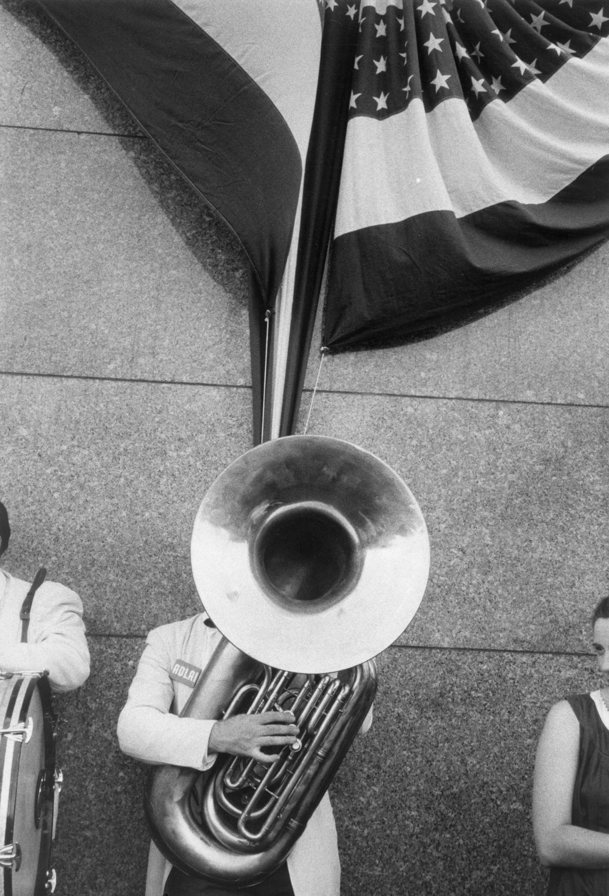 Robert Frank - Comizio politico, Chicago 1956
