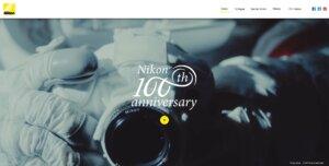 Nikon_100 Anniversary website