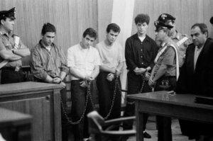 Processo a giovani stupratori di una bambina di 14 anni, Caltanissetta 1984 Courtesy dell'artista