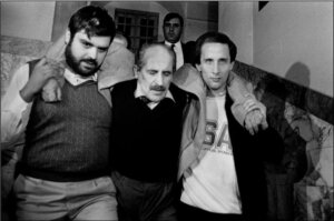 Vito Ciancimino al momento del suo arresto, Palermo 1984
