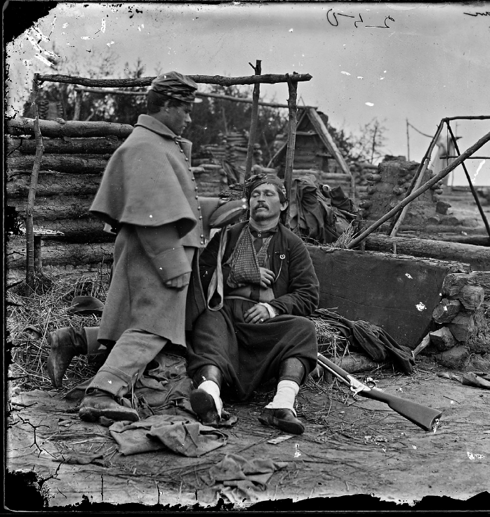 Soldato zuavo ferito 1865 - © Mathew Brady/ Wikimedia Commons