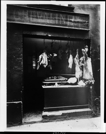 Boucherie, Rue Christine , 1898 - © Eugène Atget/ Library of Congress Prints - Photographs Division Washington