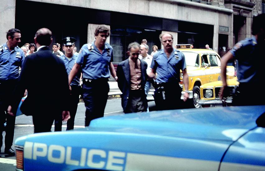 New York City Arresto preso al volo dal taxi.