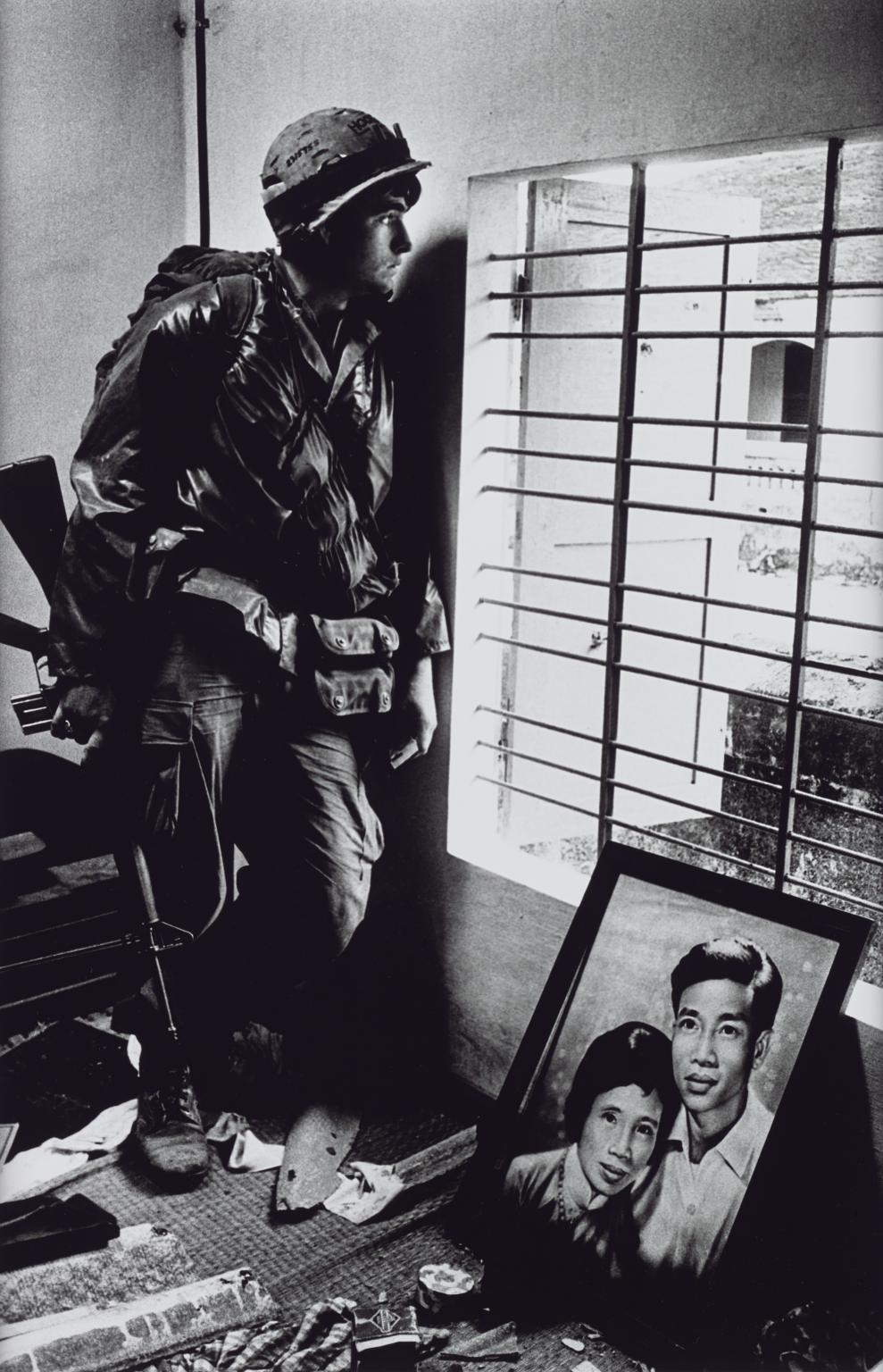 The Battle for the City of Hue, South Vietnam, US Marine Inside Civilian House 1968