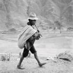 On the road to Cuzco, near Pisac, Perù, maggio, 1954