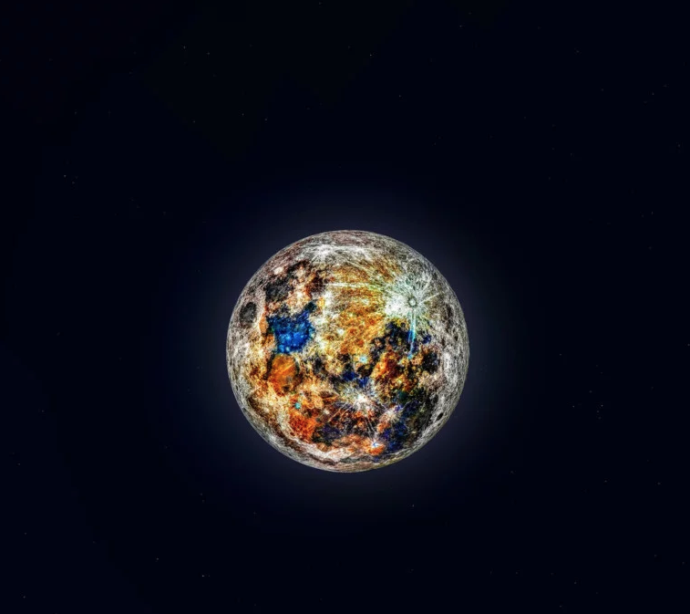 nuove immagini di prestazione affidabile lucentezza adorabile La foto dei colori nascosti della Luna lascia senza fiato ...