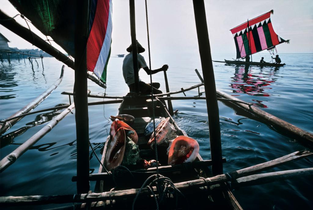 Le tradizionali imbarcazioni da pesca sul mare di Sulu, nelle Filippine meridionali.