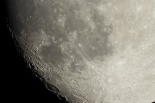 Luna fotografata con Nikon Coolpiix 1000