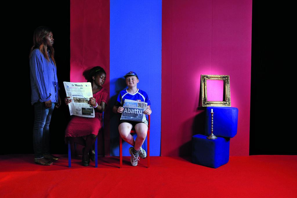 Halida Boughriet serie Pandore Bichromie au regard trompeur, 2014. Courtesy l'artista e Officine dell'Immagine Milano