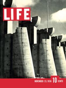 La copertina del 23 novembre 1936, con uno scatto di Margaret Bourke- White.