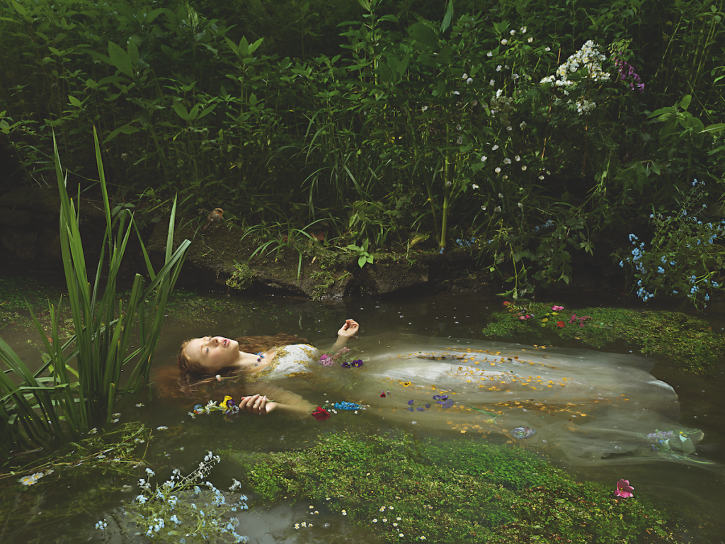 Ophelia after Millais Old Father Thames, 2018