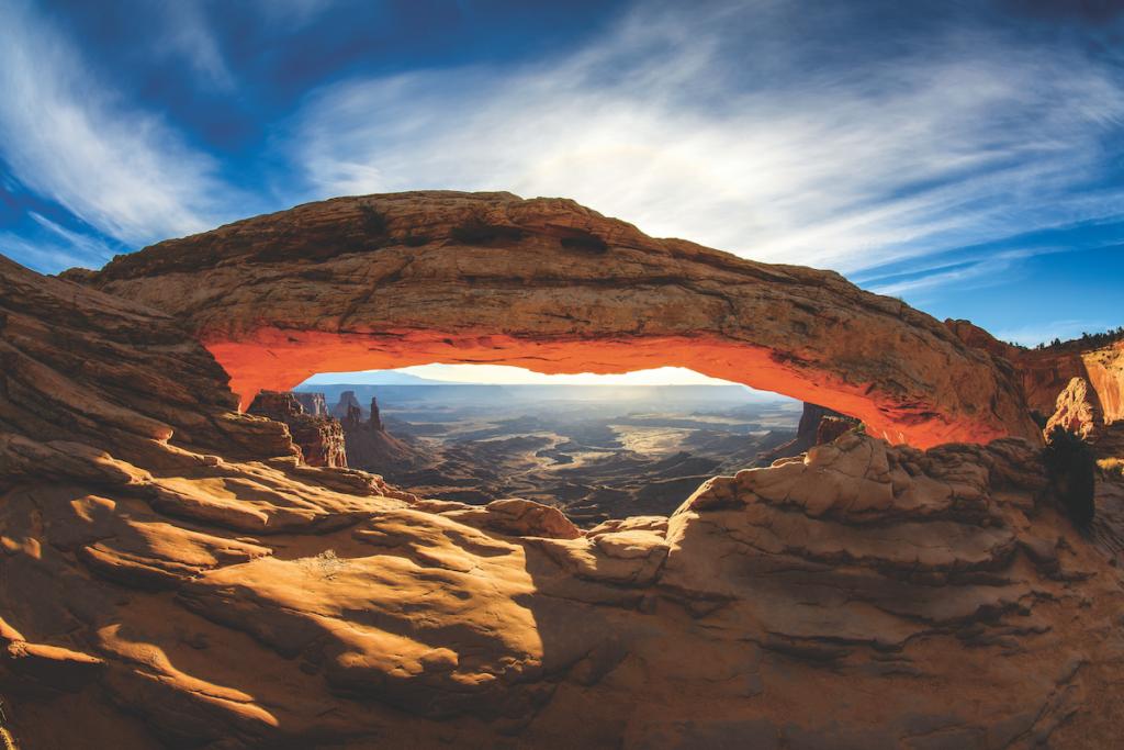 Mesa Arch nello Utah.