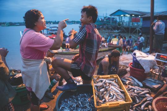 Mercato del pesce di Yangon