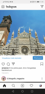 Foto online sul feed di Instagram
