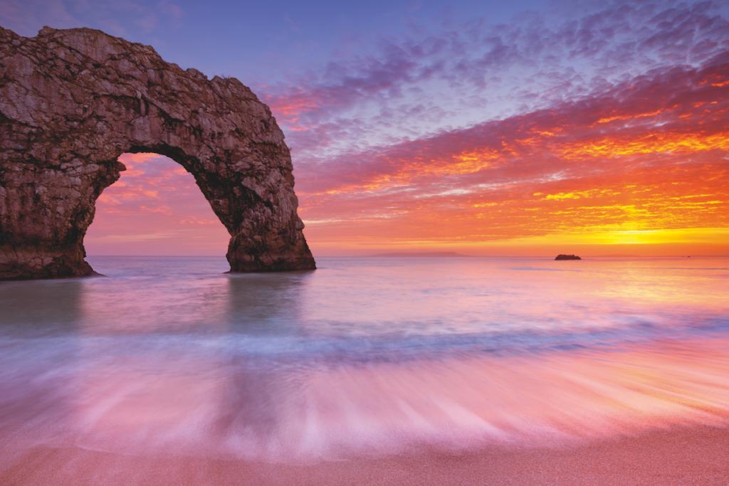 La costa al tramonto