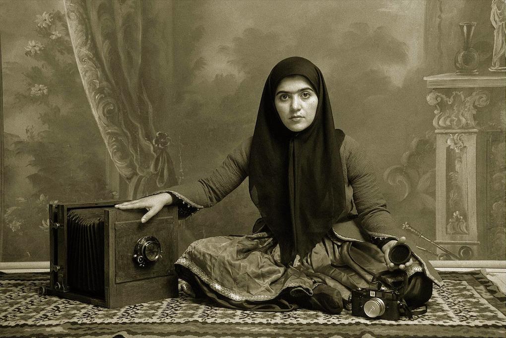Shadi Ghadirian, Qajar#7, 1998 © Podbielski Contemporary