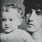 Michael Cooper con il figlio Adam.