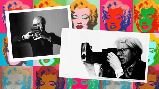 Andy Warhol e Polaroid - mostra Torino locandina
