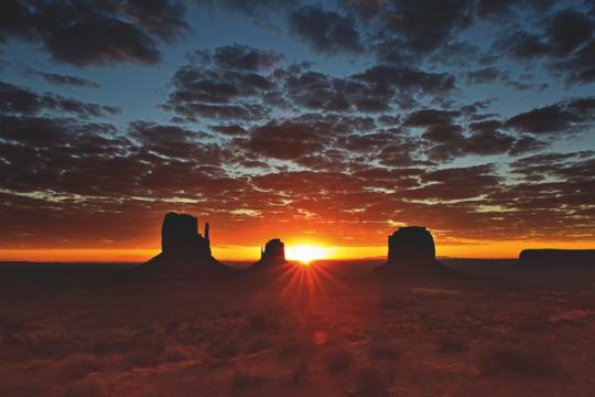 Alba sulla Monument Valley, Arizona USA 2018 © Michele Dalla Palma